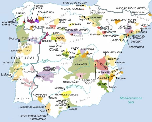 Januarys Main Event Portugal Vs Spain WineCollective Blog - Portugal estremadura map